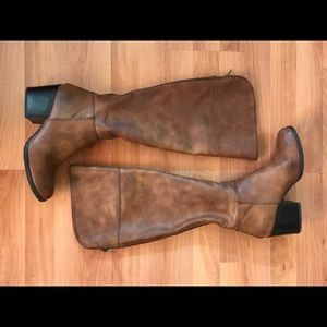 Wide Calf Brown Knee High Boots